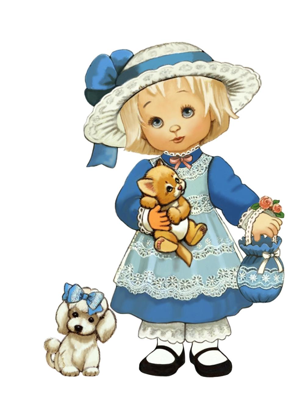 Папертоль Девочка с собачкой — главное фото сюжета.