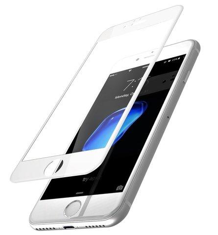 Защитное стекло 3D для iPhone 7 Plus iSlim Glass (White)