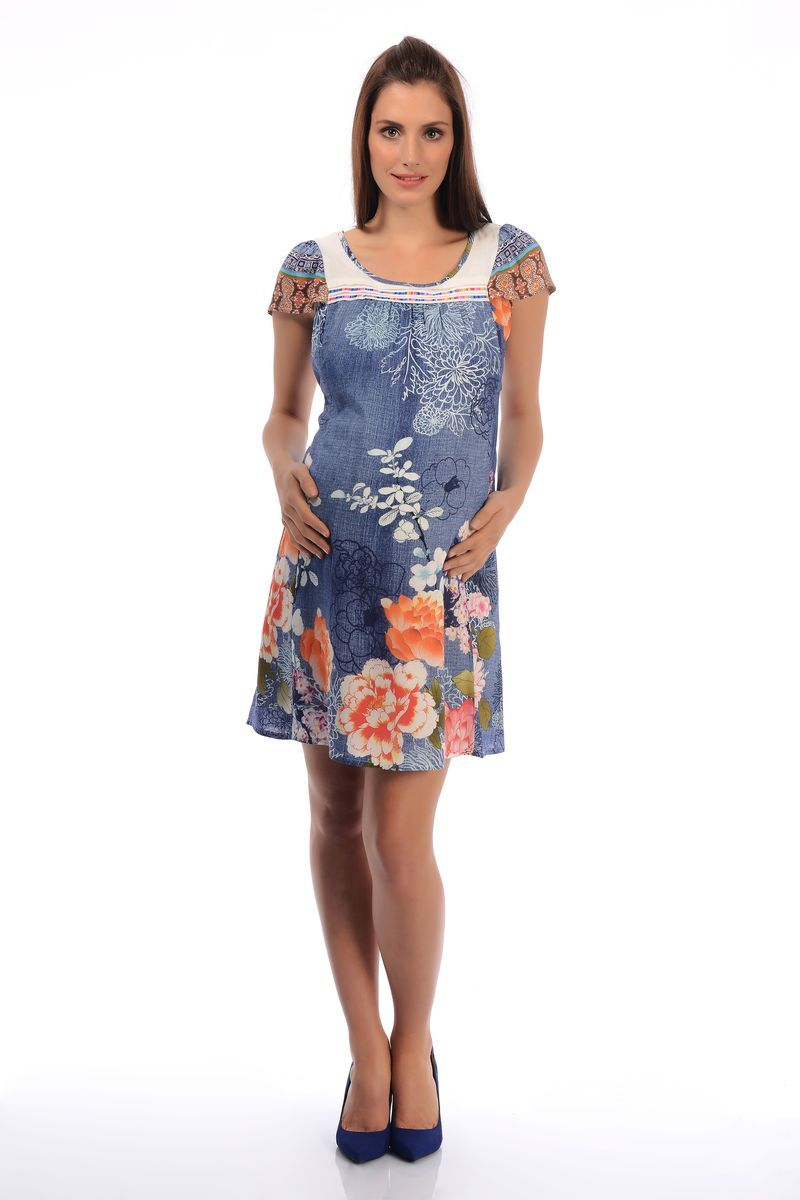 Платье для беременных 06008 синий