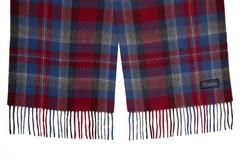Шерстяной шарф, мужской бордово-синий 31151