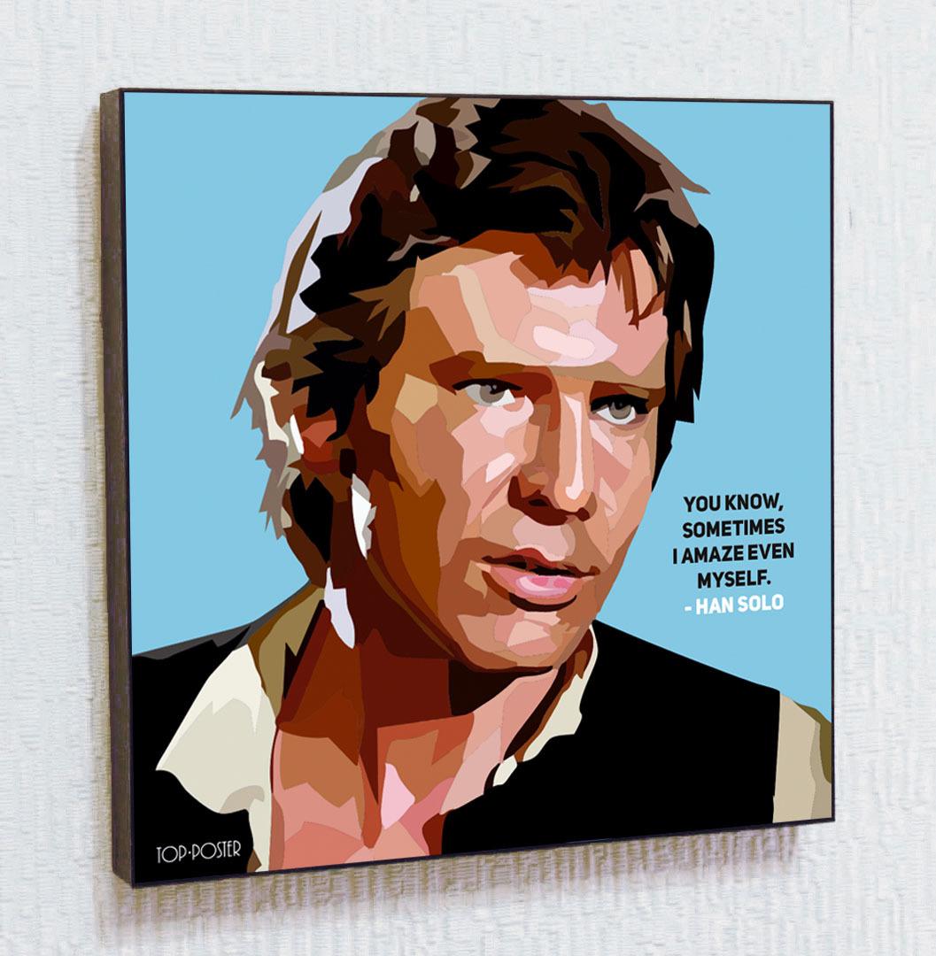 Хан Соло Картина ПОП-АРТ портрет постер