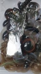 Глазки винтовые с заглушками, полупрозрачные, 1,2 см, 1 пара.