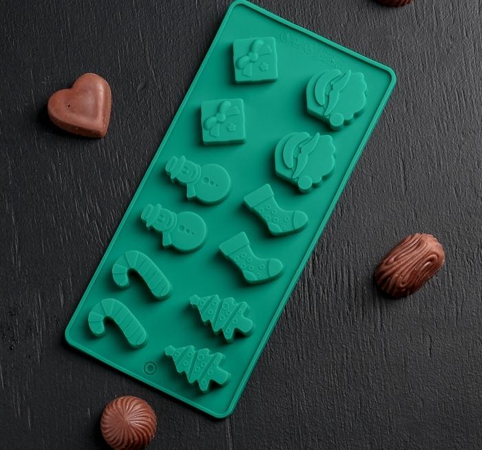 Форма для льда и шоколада «Новый год»