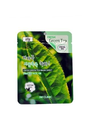 Тканевая маска для лица с экстрактом зелёного чая 3W Clinic Fresh Green Tea Mask Sheet