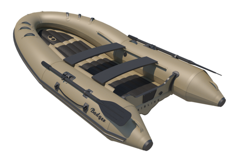 Надувная ПВХ-лодка BADGER Air Line 390, Олива