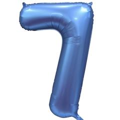 К Цифра, 7, Синий, Сатин, 34''/86 см, в упаковке 1 шт.