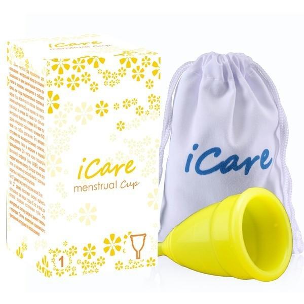 менструальная чаша iCare желтая