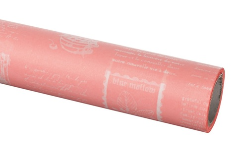Бумага вощеная 65 см 10м, Herbs, розовый