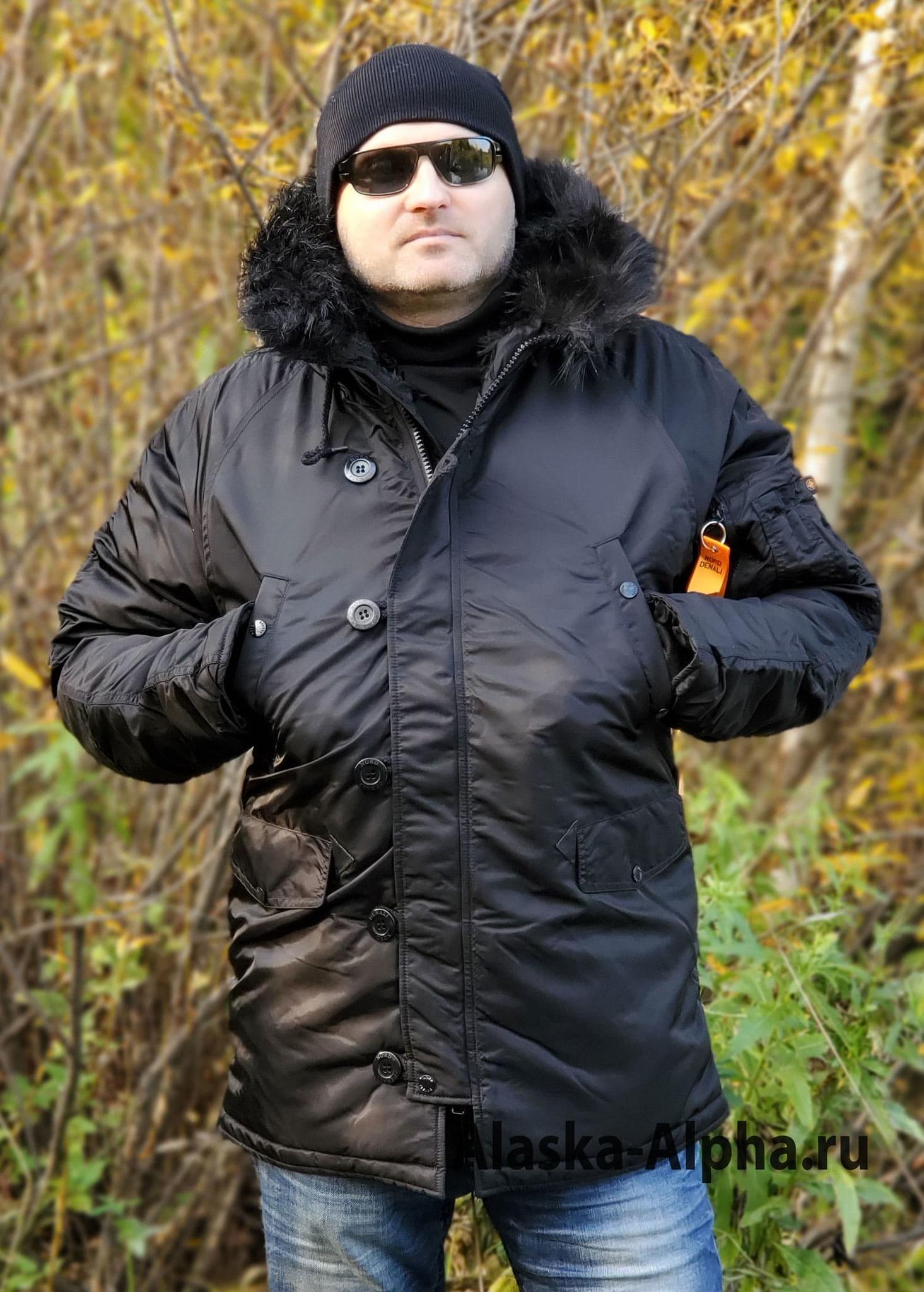 Куртка Аляска  Husky Denali Black Line (черная - black)