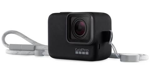 GoPro Sleeve + Lanyard - Силиконовый чехол с ремешком (Черный)