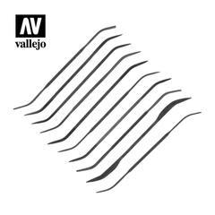 VALLEJO TOOLS: CURVED RIFFLER FILE SET (10)