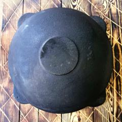 Узбекский чугунный казан 16л плоское дно (раковины)