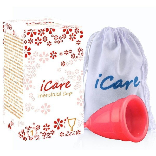 менструальная чаша iCare красная