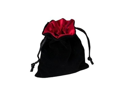 Мешочек Blackfire Velvet Dice Bag 10x12cm with Satin Lining (красная подкладка)