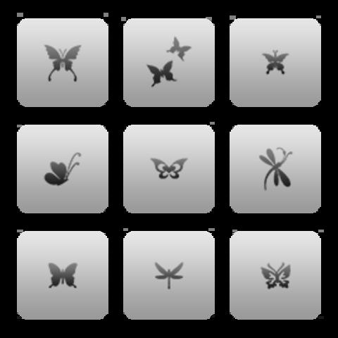 CL21 / Бабочки 9 шт