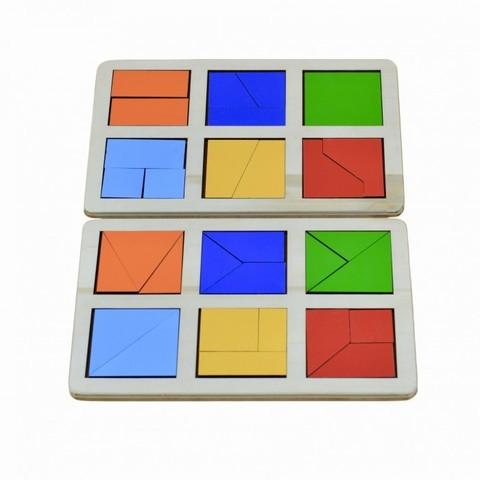 Логическая игра Сложи квадрат Б.П. Никитин уровень 1 RadugaKids (Радуга Кидс) арт. RK1130
