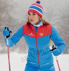 Женская элитная утеплённая лыжная куртка Nordski Pro Rus