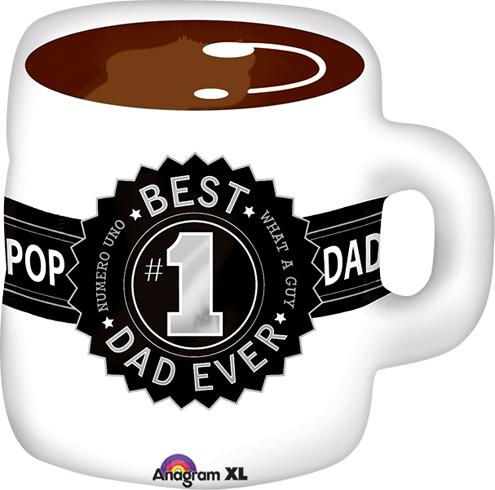 Шар-фигура best dad  ever чашка кофе