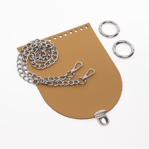 "Комплект для сумочки Орео ""Мёд"". Цепочка и замок ""Круг микро"""