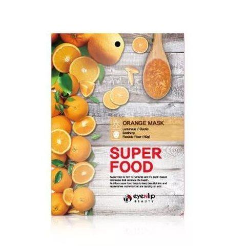 Eyenlip Маска для лица тканевая с апельсином Super Food Orange Mask, 1 шт