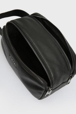 Мужской черный кожаный несессер THEBEIS Diesel