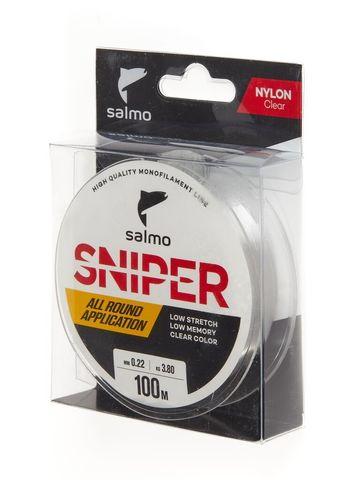 Леска монофильная Salmo Sniper Clear 100м, 0.22мм
