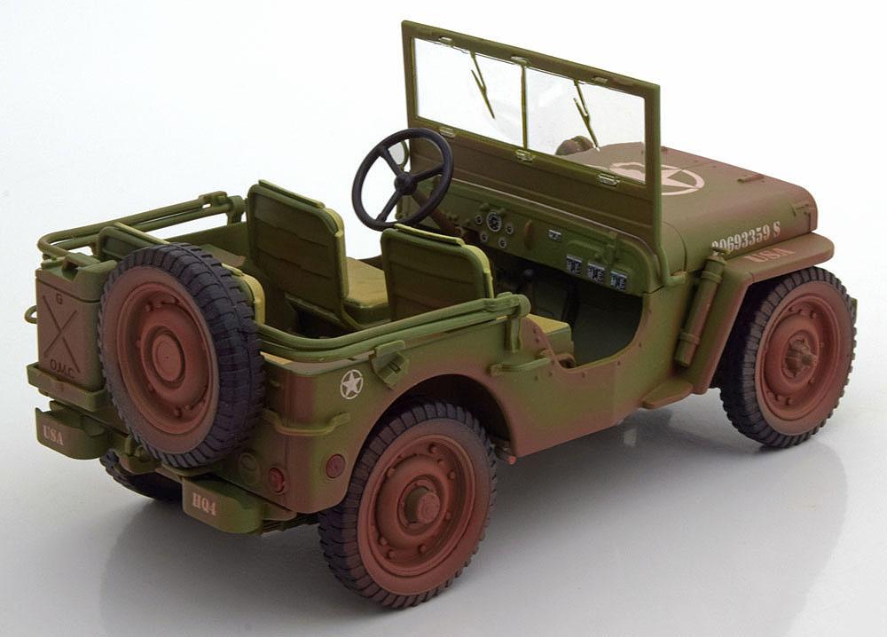 Коллекционная модель Jeep Willys US Army Dirty Version 1944 Dark Green