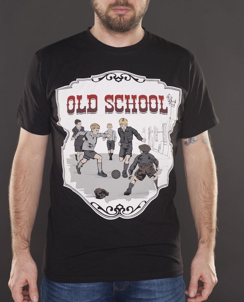 Футболка Old school чёрная