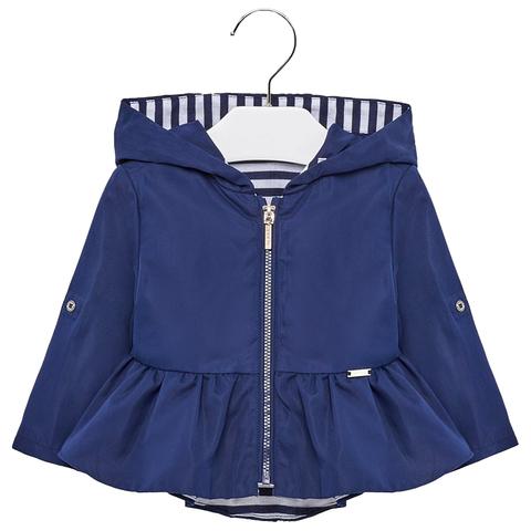 Куртка Mayoral синяя с контрастной подкладкой