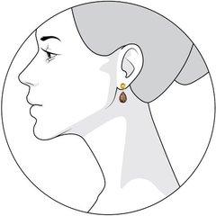 92021105 - Серьги из серебра с полудрагоценными вставками