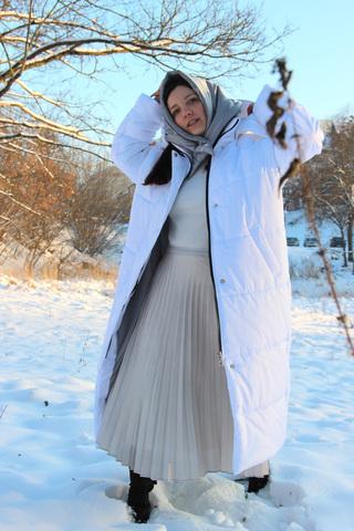 Утеплённый платок
