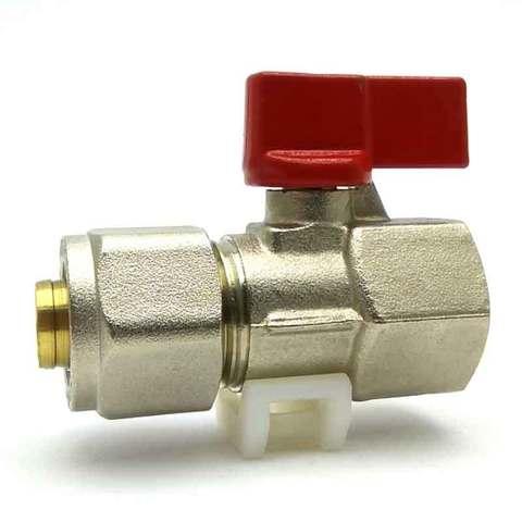 Кран шаровой для металлопластиковых труб  16х1/2 с внутренней резьбой SD Forte
