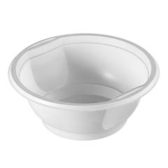 Миска одноразовая пластик. для хол./гор., 0,6л, белая, ПП, 50шт/уп