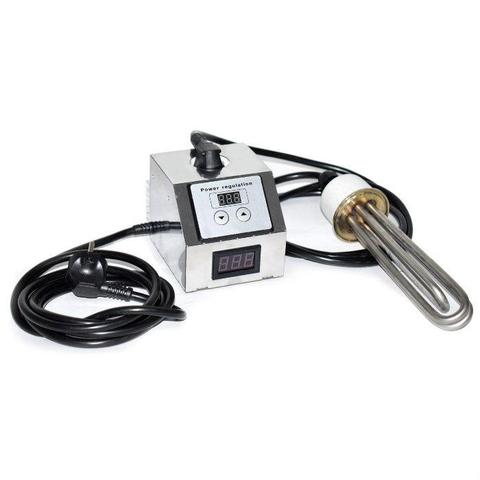 ТЭН 3 кВт нержавейка (с регулятором мощности и вольтметром)