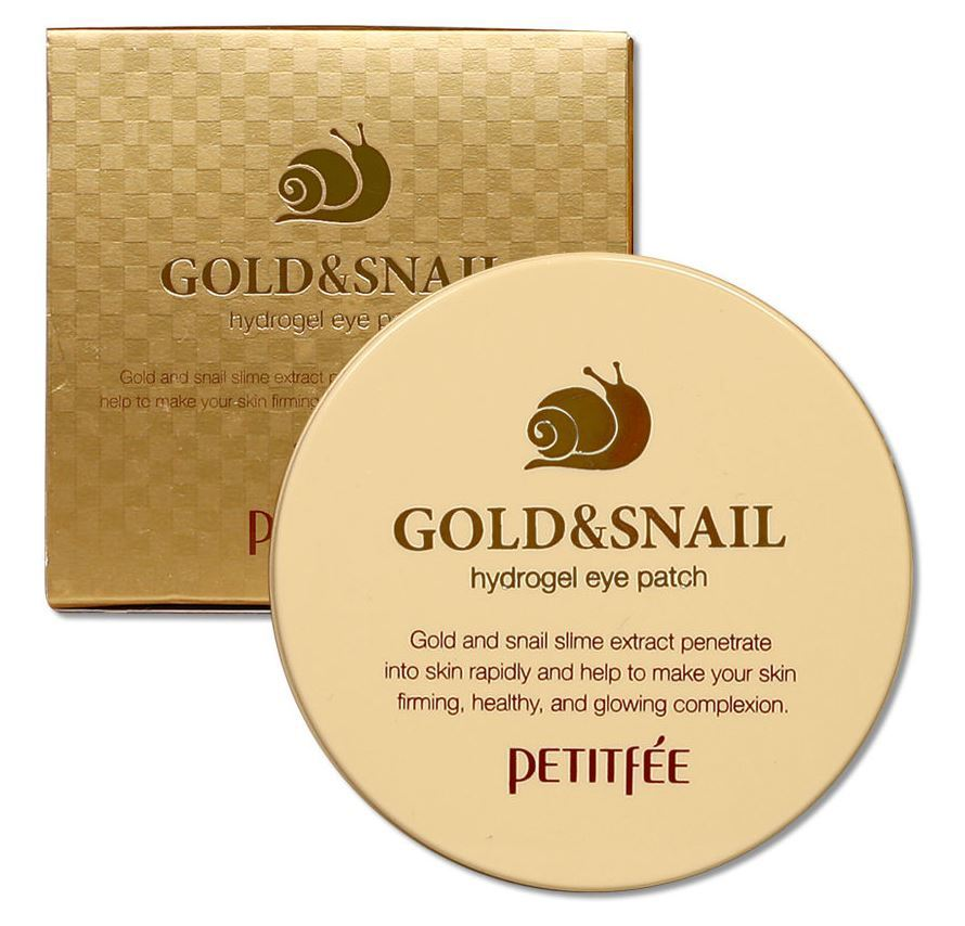 патчи для кожи вокруг глаз Petitfee Gold Snail Hydrogel Eye Patch