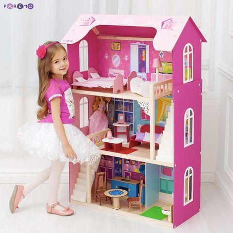 """Кукольный домик для Барби """"Вдохновение"""" (16 предметов мебели, 2 лестницы)"""