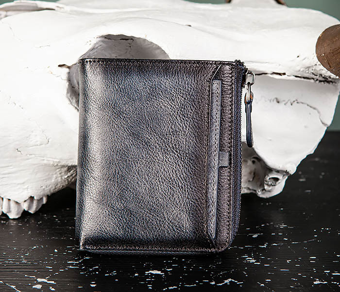WL331-3 Мужской кошелек из кожи со вкладышем и монетницей