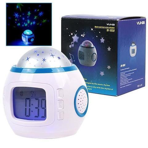 Часы с проектором звездного неба 1038