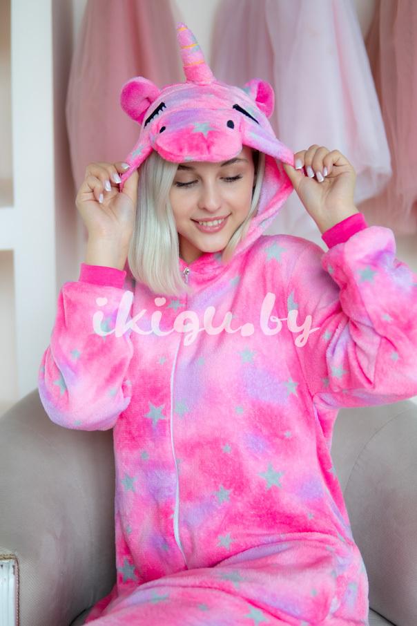 Пижамы кигуруми Розово-Радужный Единорог розово-радужный_даша2.jpg