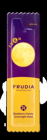 Ночная маска для лица с черникой и медом Frudia Blueberry Honey Overnight Mask, 1 шт. по  5 мл