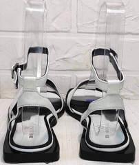 Стильные босоножки сандали женские кожаные Brocoli H1886-9165-S873 White.