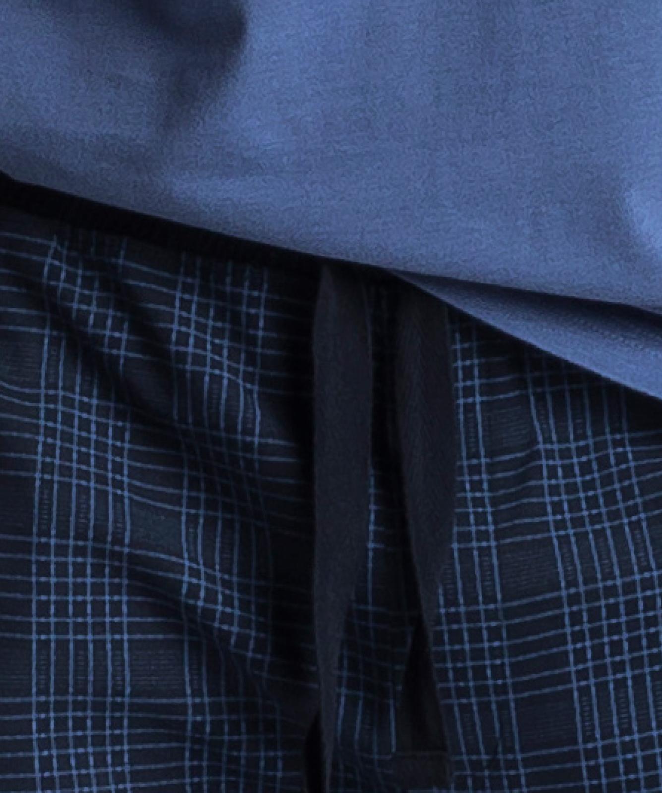 Мужская пижама Atlantic, 1 шт. в уп., хлопок, светло-голубая, NMP-349
