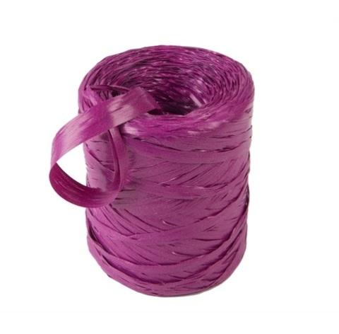 Рафия искусственная Польша 200 м Цвет:фиолетовая