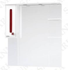 Зеркало-шкаф SanMaria Париж-90 красный, левый