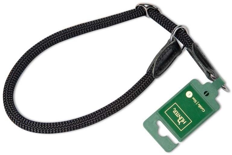 Ошейники Ошейник-удавка для собак Hunter Freestyle 60/10 нейлоновая стропа черная 39112.jpg