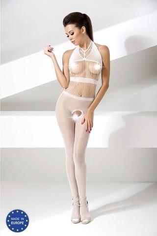 Бодистокинг из сетки с вертикальным плетением (048) белый