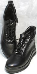 Модные осенние ботинки женские Evromoda 375-1019 SA Black