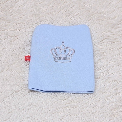 Шапочка-колпачок  Корона (голубая)