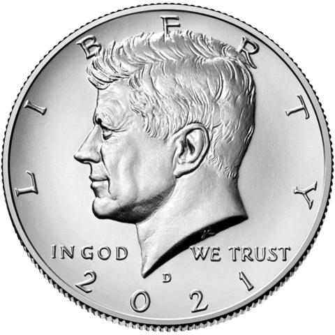 50 центов 2021 год Кеннеди (D), США. UNC