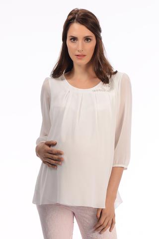 Блузка для беременных 01818 белый